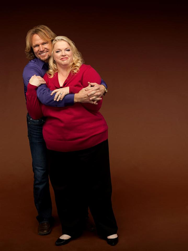 "Kody and Janelle in ""Sister Wives."""