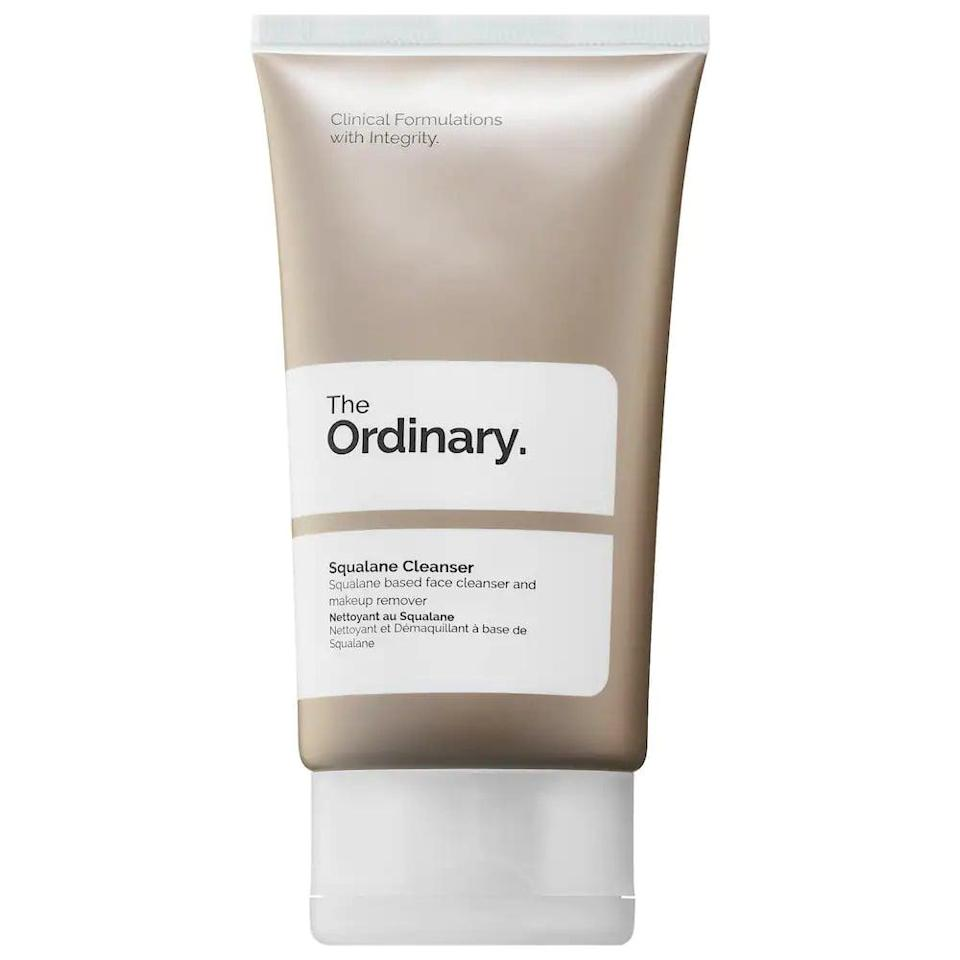 <p>The <span>The Ordinary Squalane Cleanser</span> ($8) is a gentle cleanser that can remove makeup with ease leaving skin feeling smooth and moisturized. </p>