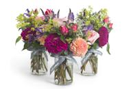 """<p>Decorate your dining table with a set of jam jars filled with summery blooms, chosen by Wild at Heart's expert florists. Arranged from a wonderful mix that may include peonies, sweet peas, scabious and roses, they are the perfect way to celebrate the sunny season. BT</p><p>£60 for three, <a href=""""http://www.wildatheart.com"""" rel=""""nofollow noopener"""" target=""""_blank"""" data-ylk=""""slk:Wild at Heart"""" class=""""link rapid-noclick-resp"""">Wild at Heart</a>.</p>"""