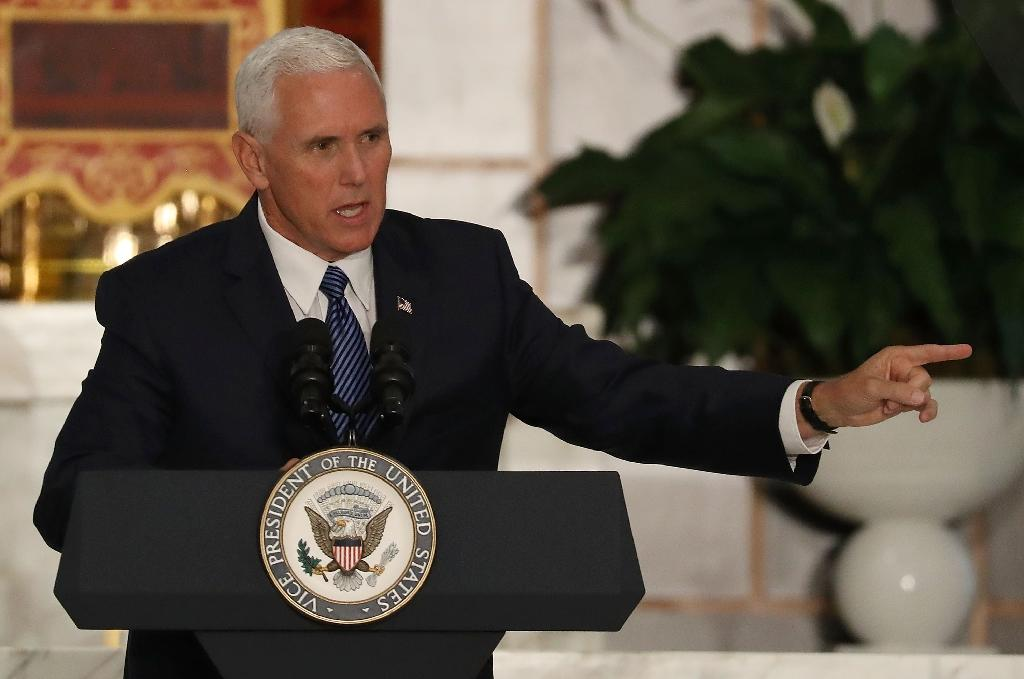 The White House said Vice President Mike Pence repeated President Donald Trump's request that Pakistan increase its efforts to address the Taliban's presence (AFP Photo/JOE RAEDLE)