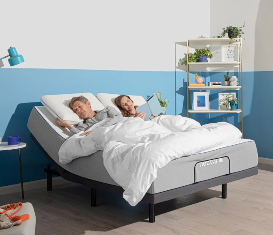"""<h3>Nectar</h3><br><strong>Sale:</strong> Up to $399 of free accessories included with mattress purchase<br><strong>Dates:</strong> Now - September 6<br><strong>Promo Code:</strong> None<br><br><em>Shop <strong><a href=""""https://www.nectarsleep.com/"""" rel=""""nofollow noopener"""" target=""""_blank"""" data-ylk=""""slk:Nectar"""" class=""""link rapid-noclick-resp"""">Nectar</a></strong></em><br><br><strong>Nectar</strong> Memory Foam Mattress, $, available at <a href=""""https://go.skimresources.com/?id=30283X879131&url=https%3A%2F%2Fwww.nectarsleep.com%2Fmattress"""" rel=""""nofollow noopener"""" target=""""_blank"""" data-ylk=""""slk:Nectar Sleep"""" class=""""link rapid-noclick-resp"""">Nectar Sleep</a>"""