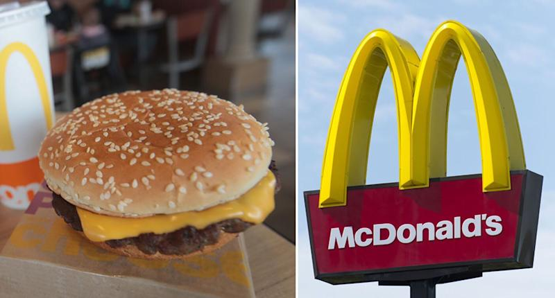 A Big Mac and a McDonald's logo. McDonald's will change how it cooks Big Macs, Quarter Pounders and Cheeseburgers in Australia.