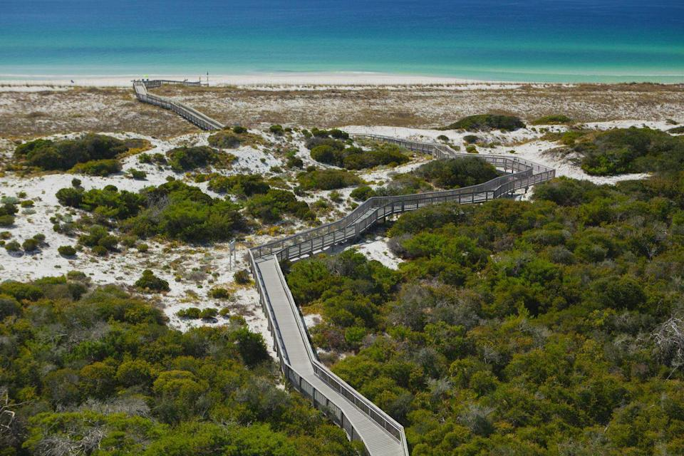 <p>One of few undeveloped slices of beachfront in the Destin area, Henderson Beach State Park is an excellent choice to visit for those seeking a getaway on the Florida Panhandle. Famous for its 30-foot white sand dunes, this park was established for preserving and protecting the area's unique natural features.</p>