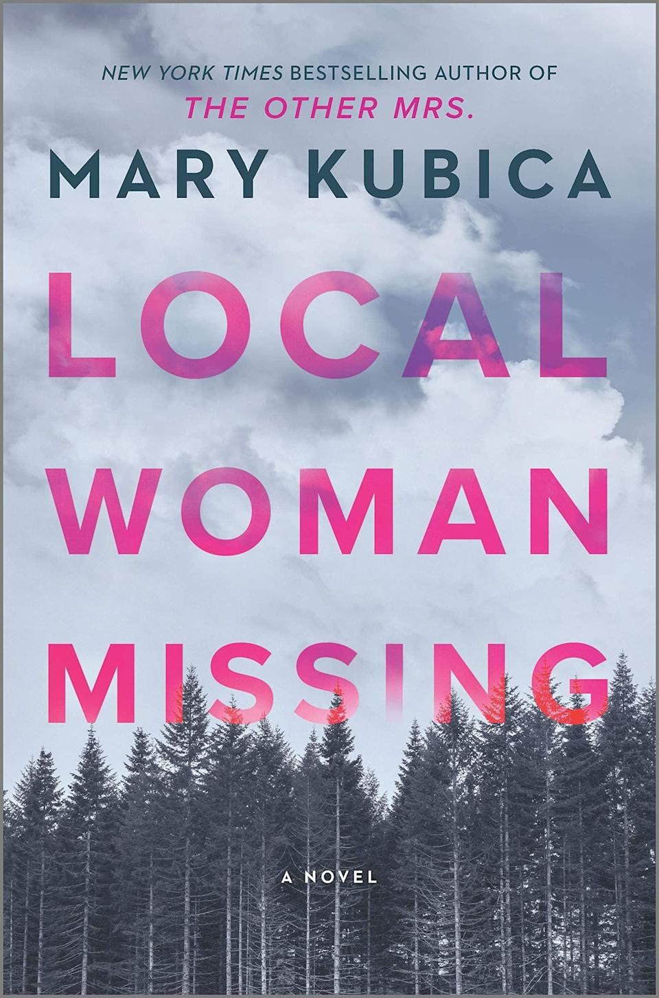 <p>Bestselling author Mary Kubica's latest thriller, <span><strong>Local Woman Missing</strong></span>, will chill you to the bone. Two women and a little girl go missing just days apart in a small community, but the case quickly goes cold. Then, 11 years later, Delilah, who was just 6 when she disappeared, returns with a shocking story about where she has been all these years. </p> <p><em>Out May 18</em></p>
