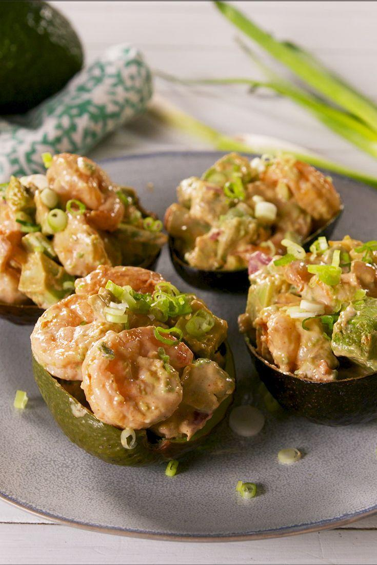 """<p>Just the right amount of heat!</p><p>Get the recipe from <a href=""""https://www.delish.com/cooking/recipe-ideas/a28688815/spicy-shrimp-stuffed-avocados-recipe/"""" rel=""""nofollow noopener"""" target=""""_blank"""" data-ylk=""""slk:Delish"""" class=""""link rapid-noclick-resp"""">Delish</a>.</p>"""