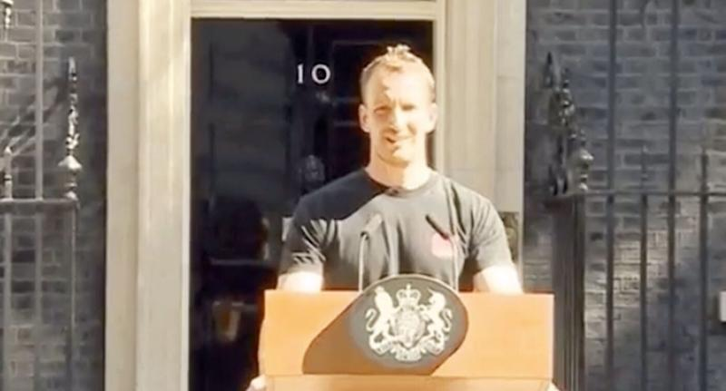 Hot Podium Guy has distracted the nation following Theresa May's departure. [Photo: BBC]