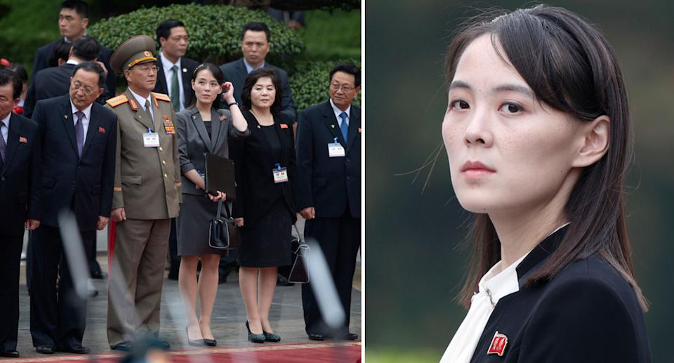 Kim Yo Jong, pictured right, is the sister of Kim Jong-un. Source: Getty