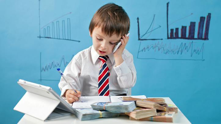 young investor, investing, child,