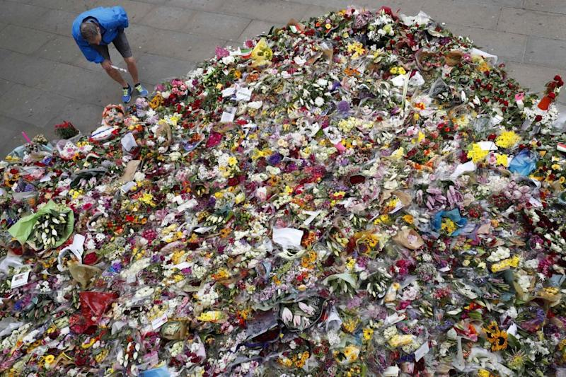 Well-wishers: a sea of floral tributes after the London Bridge attack (AFP/Getty Images)