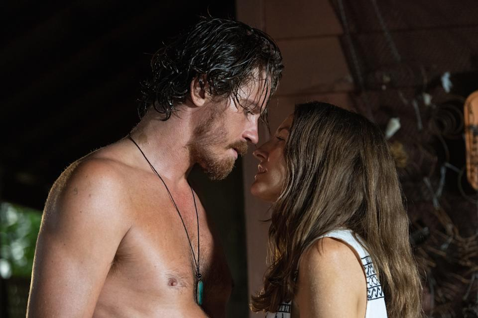 "Garrett Hedlund and Kelly Macdonald are Aussies in love in the drama ""Dirt Music."""