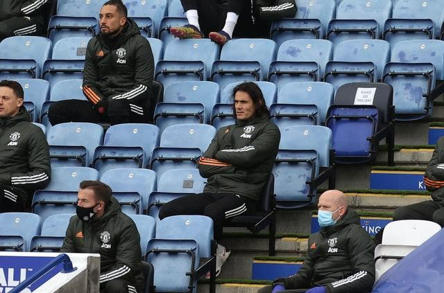 Edinson Cavani impressed off the bench against Leicester on Boxing Day