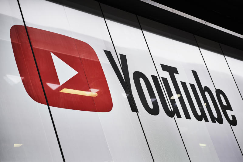 LONDON, UNITED KINGDOM - JUNE 4: Detail of the YouTube logo outside the YouTube Space studios in London, taken on June 4, 2019. (Photo by Olly Curtis/Future Publishing via Getty Images)