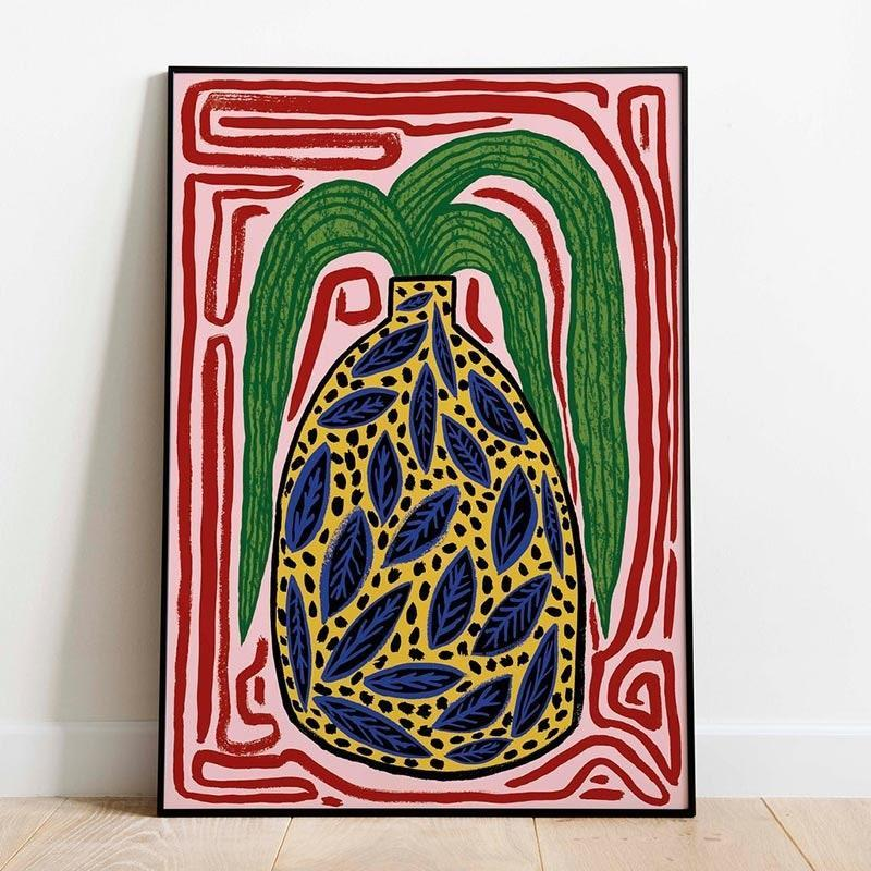 """Who says you can't shop home decor for cheap? Liven up your friend's room with this handmade painting that will bring earthiness and color to any space that needs some extra TLC. $24, Jodie Smith. <a href=""""https://www.etsy.com/listing/802286153/a4-yellow-vase-art-print?ref=related-6"""" rel=""""nofollow noopener"""" target=""""_blank"""" data-ylk=""""slk:Get it now!"""" class=""""link rapid-noclick-resp"""">Get it now!</a>"""