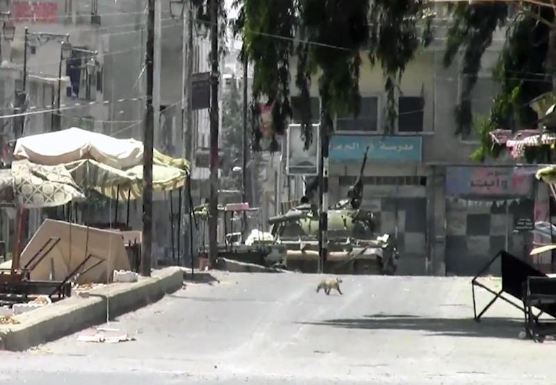 This image made from amateur video released by the Shaam News Network purports to show a Syrian military tank in Daraa, Syria, Sunday, July 29, 2012. Human rights observers estimate more than 19,000 people have died as the Syrian regime has cracked down on protesters and armed rebels. (AP Photo/Shaam News Network, SNN via AP video) THE ASSOCIATED PRESS CANNOT INDEPENDENTLY VERIFY THE CONTENT, DATE, LOCATION OR AUTHENTICITY OF THIS MATERIAL
