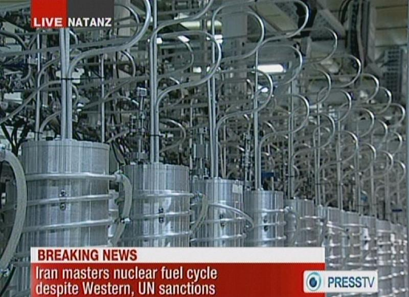 An image grab taken on February 15, 2012 from  state-run Press TV footage of centrifuges at Iran's Nantanz nuclear site