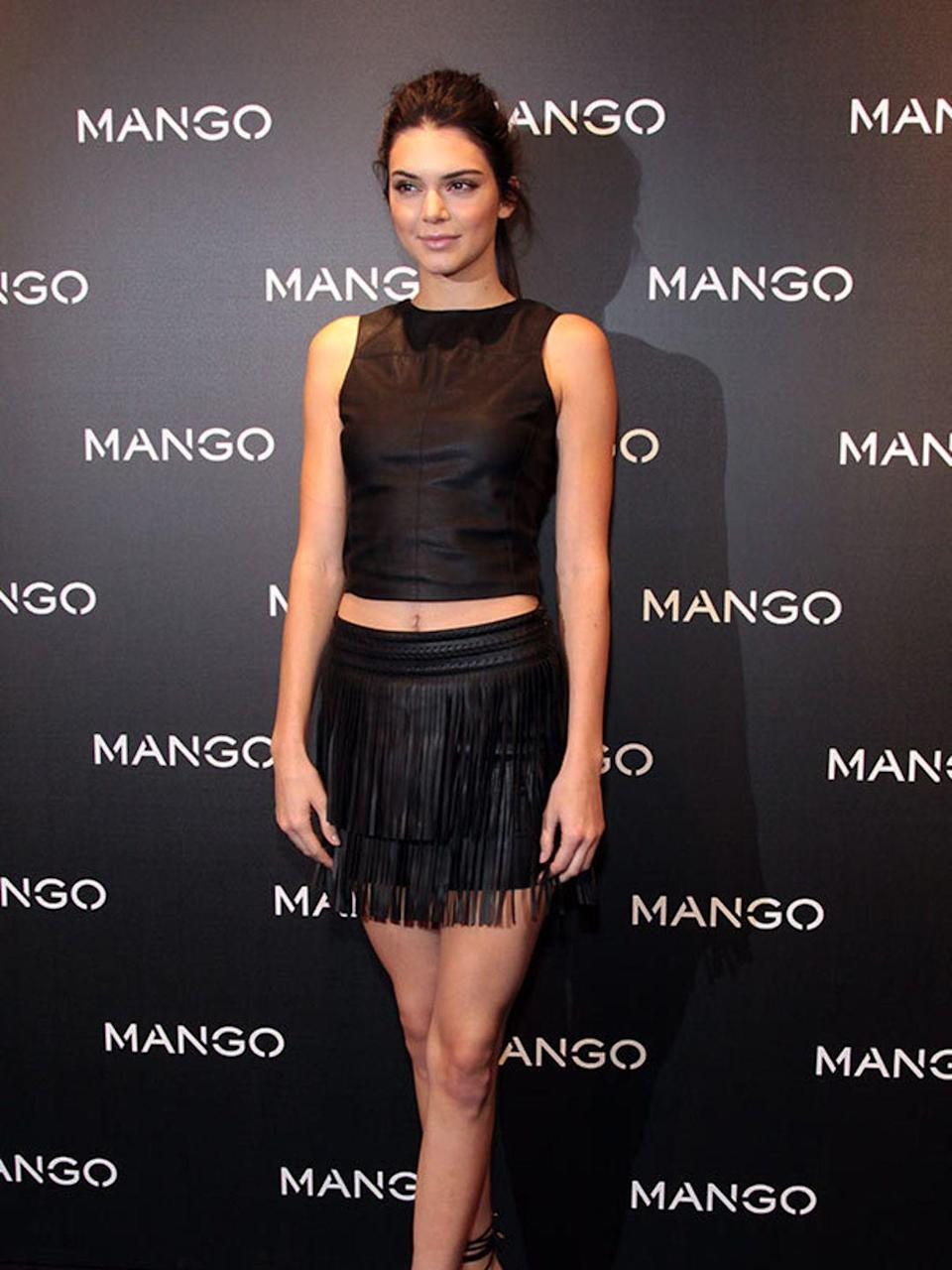 <p>Kendall Jenner Presents 'Tribal Spirit The Secret Party' By Mango In Barcelona, January 2016</p>