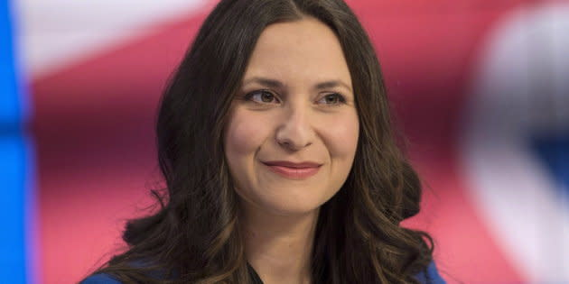 Ontario Progressive Conservative leadership candidate Tanya Granic Allen is seen at TVO studios in Toronto on Feb. 15, 2018 after a debate.