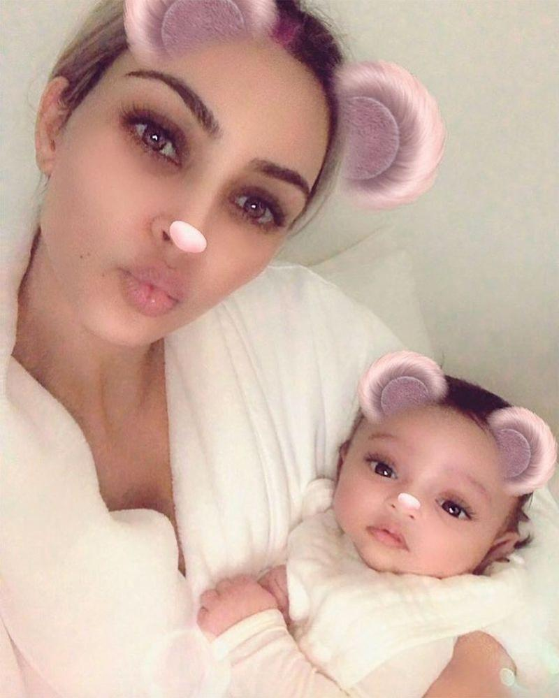 Kim Kardashian West and daughter Chicago
