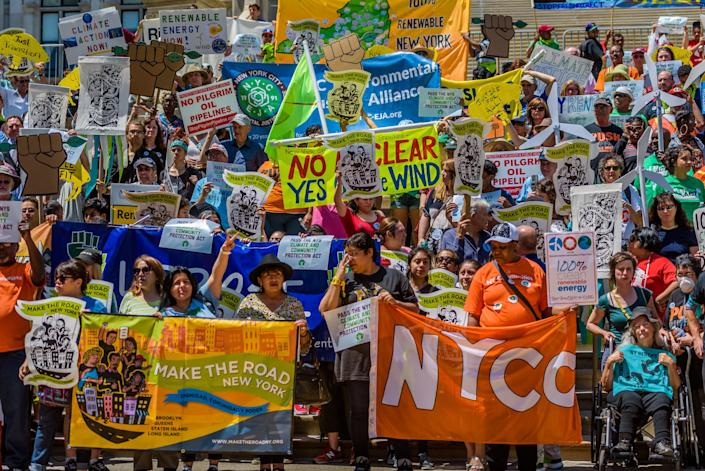 """What&rsquo;s the single biggest way you can influence&nbsp;climate change? According to the NRDC, it&rsquo;s <a href=""""https://www.nrdc.org/stories/how-you-can-stop-global-warming"""" rel=""""nofollow noopener"""" target=""""_blank"""" data-ylk=""""slk:speaking up"""" class=""""link rapid-noclick-resp"""">speaking up</a>. <br><br>&ldquo;Talk to your friends and family, and make sure your representatives are making good decisions,&rdquo; Aliya Haq, deputy director of NRDC&rsquo;s Clean Power Plan Initiative, wrote in a blog post. &ldquo;The main reason elected officials do anything difficult is because their constituents make them.&rdquo;&nbsp;&nbsp;<br><br>In the coming months and years, &ldquo;there will be mass mobilizations that folks should join to push back against Trump&rsquo;s regressive policies and hateful rhetoric,&rdquo; said 350.org&rsquo;s Meiman. &ldquo;Folks can engage online by joining online actions, signing petitions and contributing their voice on social media to push back on Trump&rsquo;s agenda.&rdquo;<br><br>You can also&nbsp;participate in protests in your&nbsp;area or join and support local nonprofits in their&nbsp;fight against climate change."""