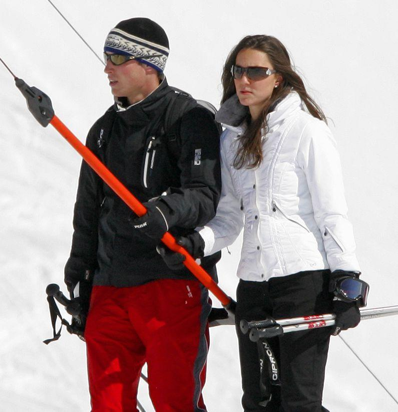 <p>Prince William and Prince Harry regularly made trips to Switzerland for ski trips during their childhood, so it's no surprise that in 2008 William brought then-girlfriend Kate to join him on a winter retreat. Ah, young love.</p>