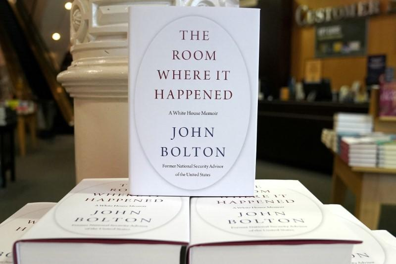 FILE PHOTO: Copies of John Bolton's book 'The Room Where It Happened' are pictured on display at a Barnes and Noble bookstore in the Manhattan borough of New York City