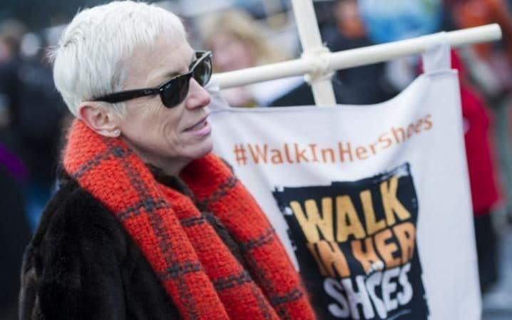 Annie Lennox takes Part In the 'Walk In Her Shoes' march in London - Credit: EAMONN M. MCCORMACK/GETTY