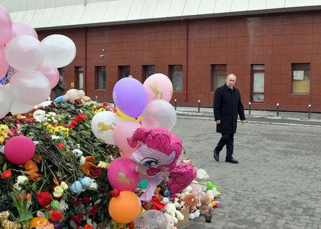 Russia's Putin says 'criminal negligence' behind shopping mall fire