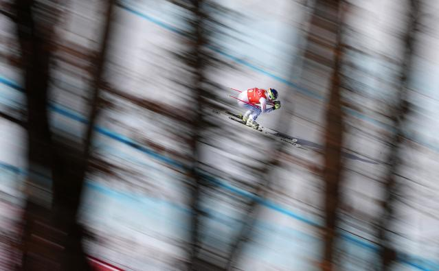 <p>Lindsey Vonn of the United States makes a run during Alpine Skiing Ladies' Downhill Training on day 10 of the PyeongChang 2018 Winter Olympic Games at Jeongseon Alpine Centre on February 19, 2018 in Pyeongchang-gun, South Korea. (Photo by Tom Pennington/Getty Images) </p>
