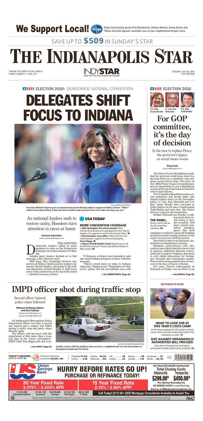 <p>Published in Indianapolis, Ind. USA. (newseum.org)</p>