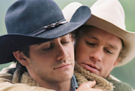 <p>When Ennis and Jack were hired to herd sheep through the Brokeback mountains, they didn't expect to fall in love. Portrayed by Heath Ledger and Jake Gyllenhaal, the cowboys navigate through a passionate, complex relationship. When the two part ways, they each marry a woman and have children. Ennis and Jack reunite years later and kiss, which Ennis's wife sees. Despite talking about running away together, Ennis refuses to leave his family. Eventually, both marriages crumble. Ennis tells Jack that they cannot see each other anymore, and both blame each other for their separation. As the time passes, Ennis learns that Jack died.<br></p>