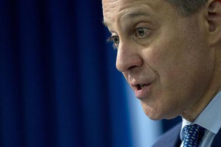 New York State Attorney General Eric Schneiderman speaks during a press conference about a settlement announced against the Bank Of America in the Manhattan borough of New York