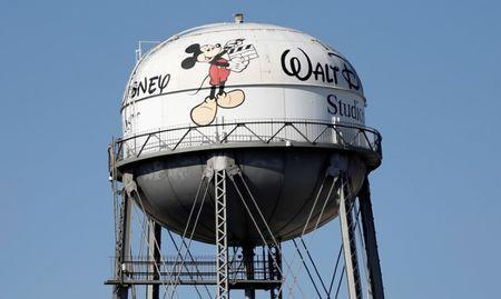 FILE PHOTO: The water tank of The Walt Disney Co Studios is pictured in Burbank, California February 5, 2014. REUTERS/Mario Anzuoni/File Photo