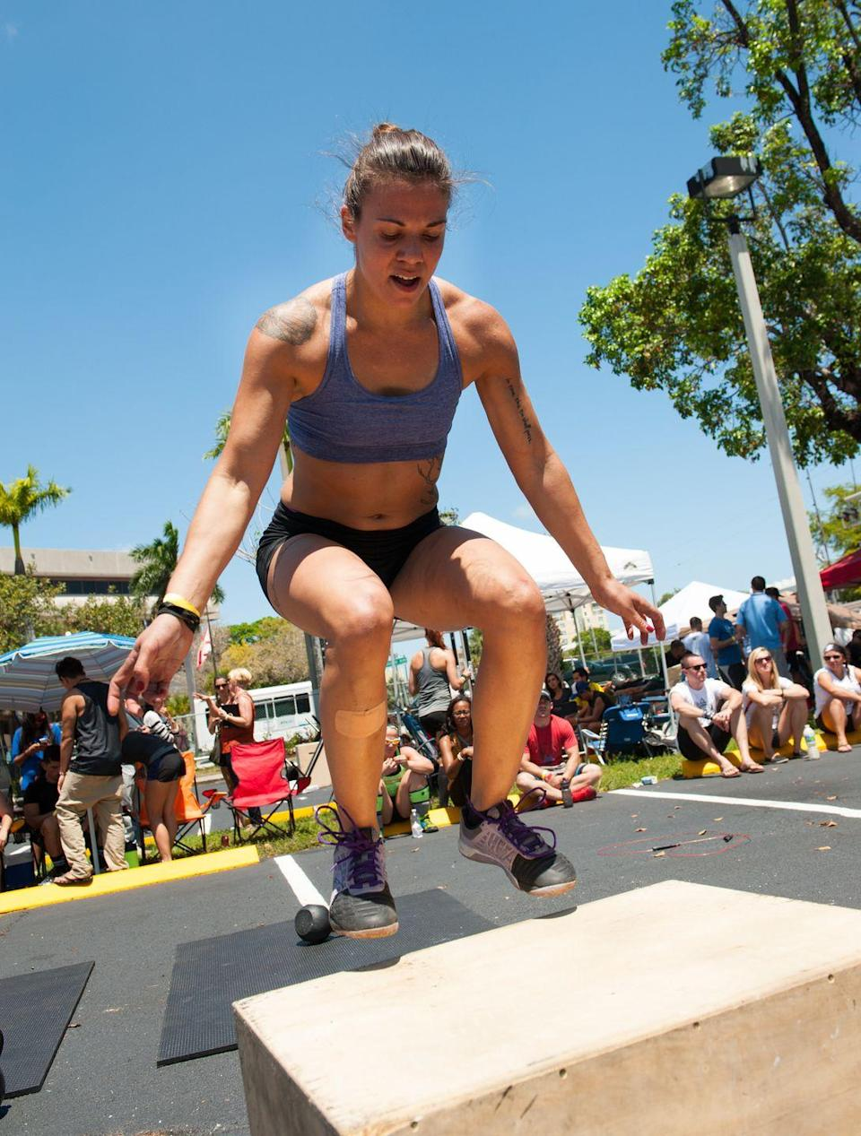 """<p>There are no bi-weeks in CrossFit. An athlete competing for the title has to perform <a href=""""https://s3.amazonaws.com/crossfitpubliccontent/CrossFitGames_Rulebook.pdf"""" rel=""""nofollow noopener"""" target=""""_blank"""" data-ylk=""""slk:all of the required events in the Open"""" class=""""link rapid-noclick-resp"""">all of the required events in the Open</a>. </p>"""