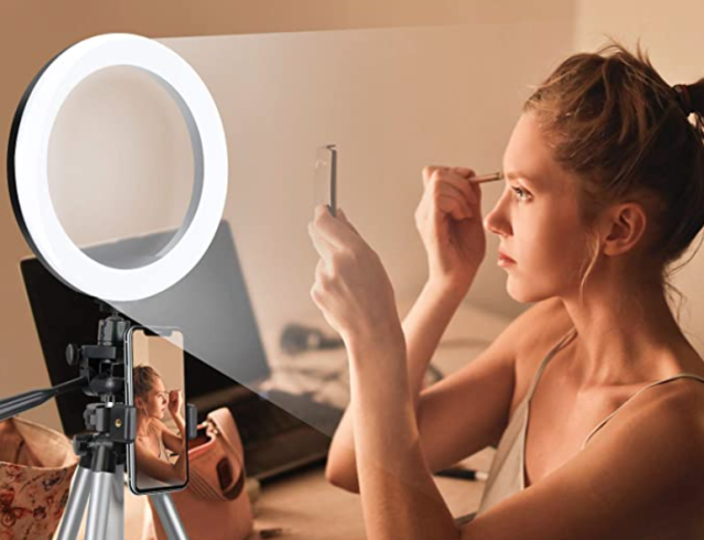 Get the best deal on this ring light with a Prime membership. (Photo: Amazon)