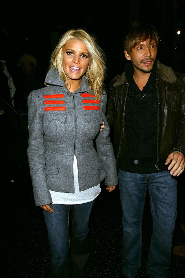 Jessica Simpson and her hair stylist/BFF, Ken Paves, are inseparable. Here, the duo goes clubbing at Villa in West Hollywood. VWR-Ginsburg-Spaly/ X17 Online - February 21, 2008