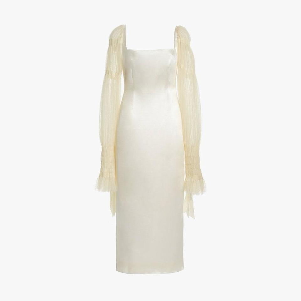 "$4290, MODA OPERANDI. <a href=""https://www.modaoperandi.com/women/p/danielle-frankel-bridal/ruby-mid-length/412895"" rel=""nofollow noopener"" target=""_blank"" data-ylk=""slk:Get it now!"" class=""link rapid-noclick-resp"">Get it now!</a>"