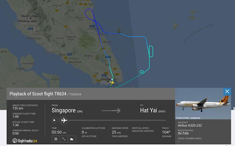 Flight returns to Singapore after bomb hoax