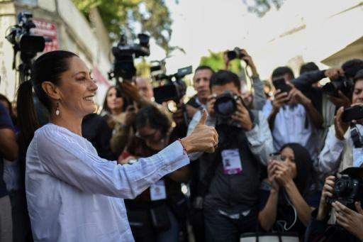 Claudia Sheinbaum is the first woman to be elected Mexico City mayor, according to exit polls