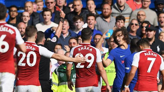 <p>Red cards have proven to a decisive and common sight when these two sides clash as Chelsea have had a man sent off in their previous two fixtures against Arsenal, and now they have made it three as David Luiz was shown a straight red card for his reckless studs-up challenge on Sead Kolasinac in the dying stages.</p> <br><p>The timing of Luiz's exile from the game left little for Arsenal to capitalise on but will no doubt have infuriated his manager Antonio Conte, who voiced his frustration earlier in the week at the constant appearance of the red card emerging from the referees pocket when he is opposing Wenger's side. </p> <br><p>This time Chelsea were lucky not to have the card be a game changer, but they will need to rectify their lack of discipline if they are to successfully defend their title. </p>
