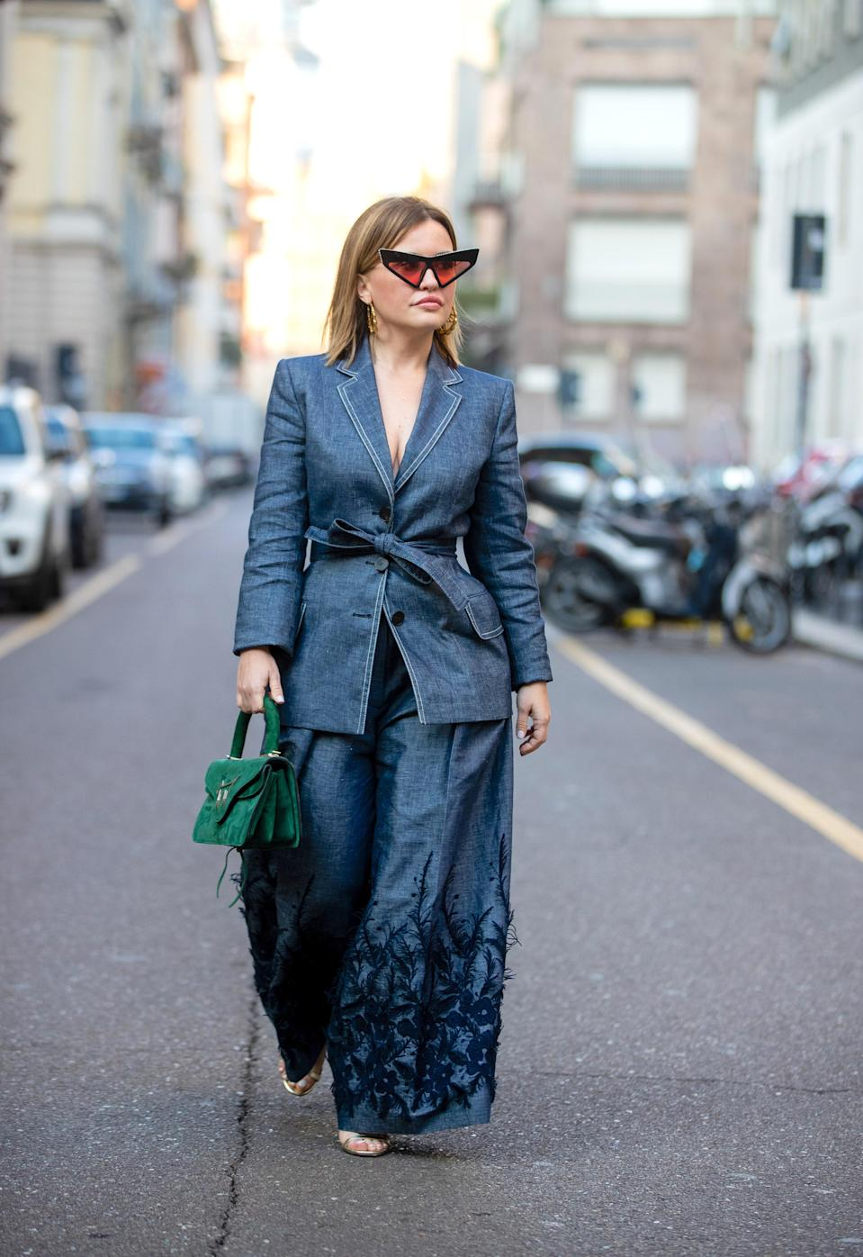Add denim suiting to your To Buy When I Go Out Again list.