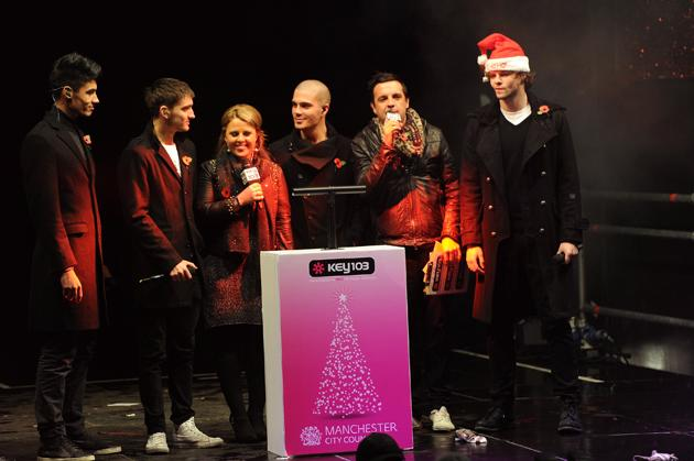 2012: The cheeky The Wanted boys turned on the Manchester Christmas lights, but were well behaved. Copyright [WENN]