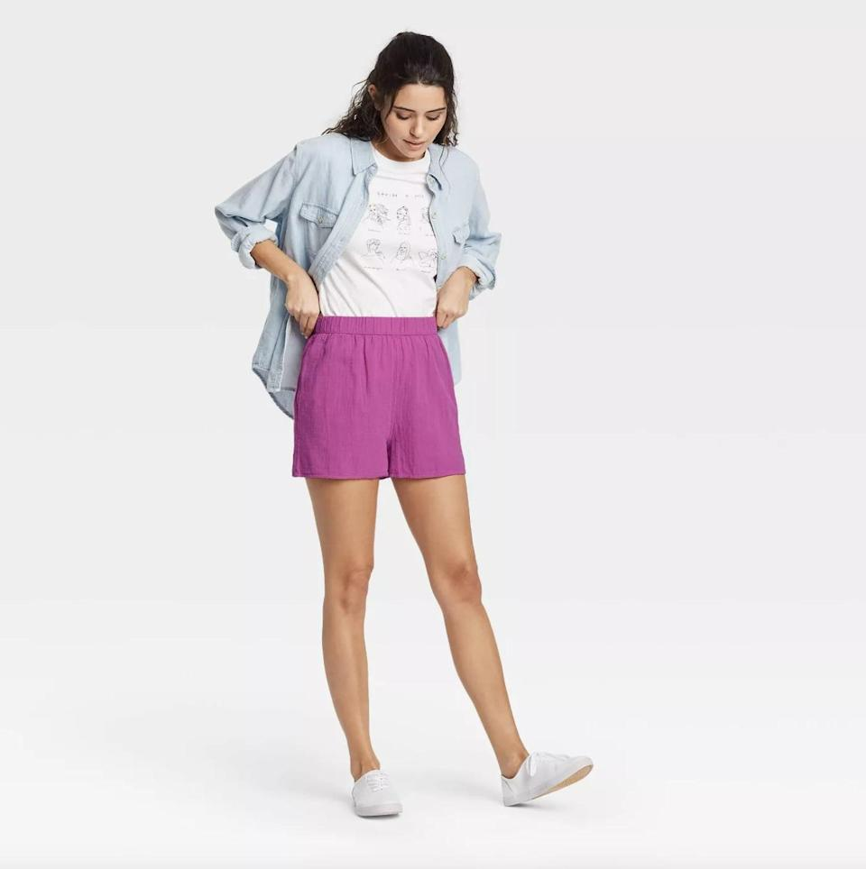 <p>These 100-percent-cotton <span>Universal Thread High-Rise Pull-On Shorts</span> ($15) makes for a breathable pair that you'll feel comfortable wearing all day.</p>