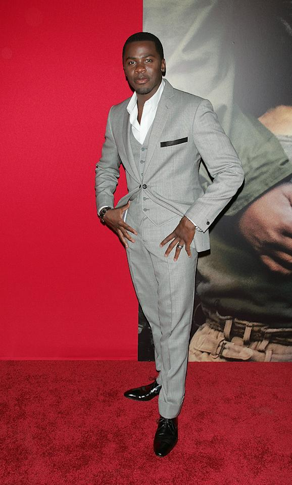 """<a href=""""http://movies.yahoo.com/movie/contributor/1804502220"""">Derek Luke</a> at the New York City premiere of <a href=""""http://movies.yahoo.com/movie/1809947151/info"""">Miracle at St. Anna</a> - 09/22/2008"""