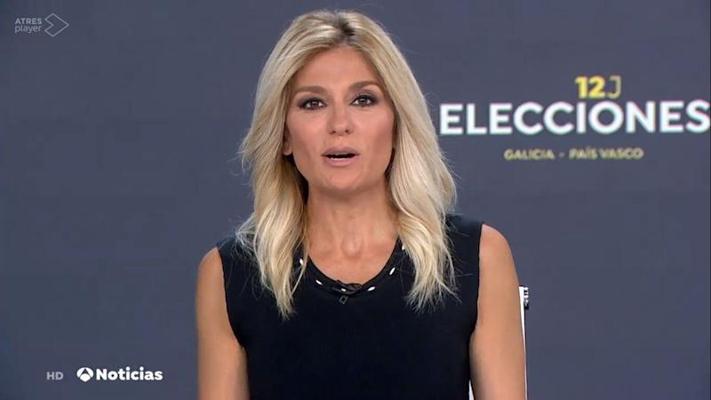 Sandra Golpe, al mando de 'Antena 3 Noticias'. (Photo: Antena 3)