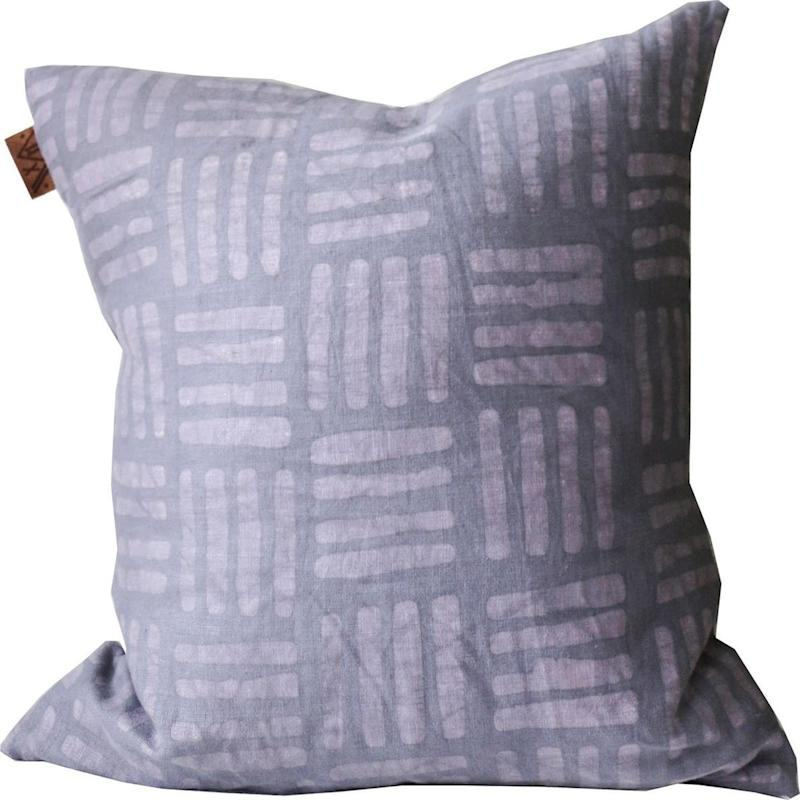 Batik Mauve HASH Mark Pillow. Image via Etsy.