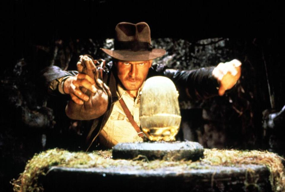 """<a href=""""http://movies.yahoo.com/movie/raiders-of-the-lost-ark/"""" data-ylk=""""slk:RAIDERS OF THE LOST ARK"""" class=""""link rapid-noclick-resp"""">RAIDERS OF THE LOST ARK</a> (1981) <br>Directed by: <span>Steven Spielberg</span> <br>Starring: <span>Harrison Ford</span>, <span>Karen Allen</span> and <span>Paul Freeman</span>"""