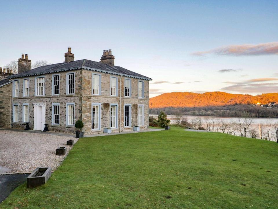 """<p>Looking for a blow-out staycation location? This grand Georgian country home — which has space for 18 guests – is the ultimate hangout spot for hunkering down. Standing tall over Windermere, expect some of the greatest views around. </p><p><strong>Guests: </strong>Up to 18<br><strong>Pricing: </strong>Seven nights from £10,344 </p><p><a class=""""link rapid-noclick-resp"""" href=""""https://go.redirectingat.com?id=127X1599956&url=https%3A%2F%2Fwww.sykescottages.co.uk%2Fcottage%2FLake-District-Cumbria-The-Lake-District-Graythwaite-Hall%2FSilverholme-1061174.html&sref=https%3A%2F%2Fwww.countryliving.com%2Fuk%2Ftravel-ideas%2Fstaycation-uk%2Fg35804522%2Fgroup-accommodation-holiday-homes-uk%2F"""" rel=""""nofollow noopener"""" target=""""_blank"""" data-ylk=""""slk:BOOK NOW"""">BOOK NOW</a></p>"""