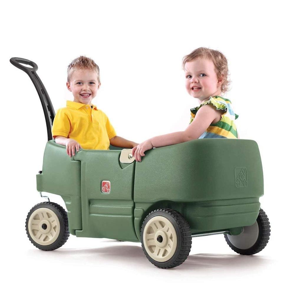 <p>The <span>Step2 Wagon For Two Plus</span> ($80) is the ultimate neighborhood ride for a set of twins.</p>