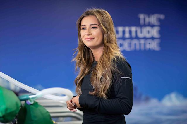 Dani Dyer during training for the Comic Relief Kilimanjaro climb on January 30, 2019 in London, England. (Tim Whitby/Comic Relief/Getty Images)