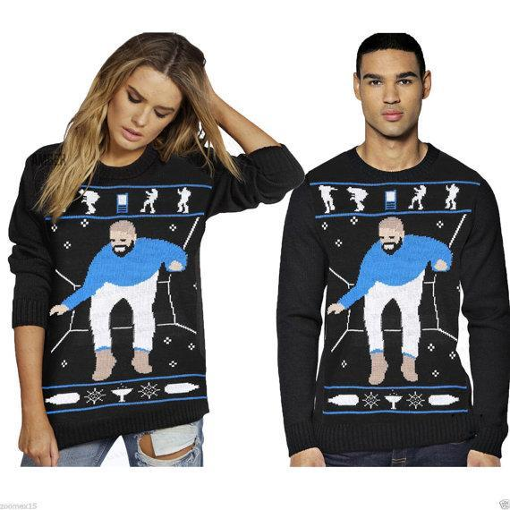 """<p>£18.99, <a href=""""https://www.etsy.com/uk/listing/485049959/hotline-bling-drake-ugly-christmas?ga_order=most_relevant&ga_search_type=all&ga_view_type=gallery&ga_search_query=Christmas%20jumper&ref=sr_gallery_47"""" rel=""""nofollow noopener"""" target=""""_blank"""" data-ylk=""""slk:Etsy"""" class=""""link rapid-noclick-resp"""">Etsy</a></p>"""
